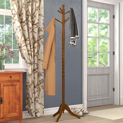 Traditional Wood Coat Stand Finish: Oak
