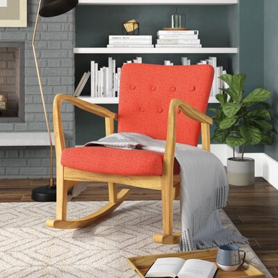 Sauceda Fabric Rocking Chair Fabric: Muted Orange