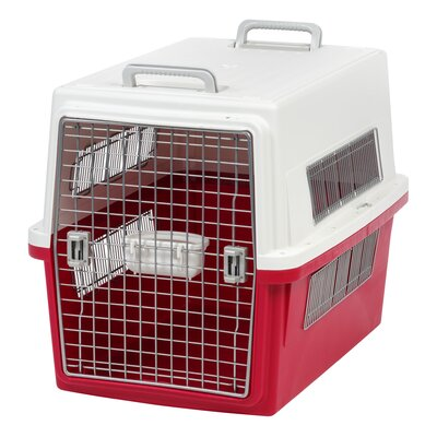 """Travel Pet Carrier Size: 32.17"""" H x 24.41"""" W x 34.25"""" L, Color: Red"""