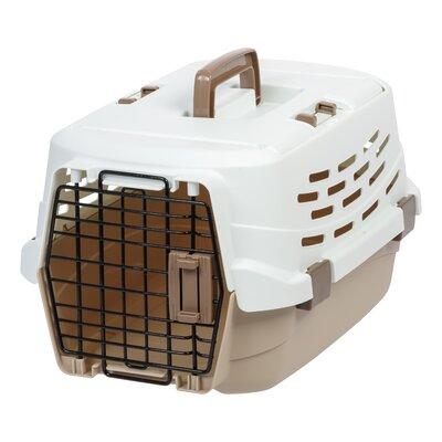 """Travel Pet Carrier Color: Brown, Size: 12.75"""" H x 15"""" W x 22..5"""" L"""
