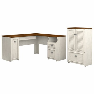 Oakridge 2 Piece L-shaped Desk Office Suite