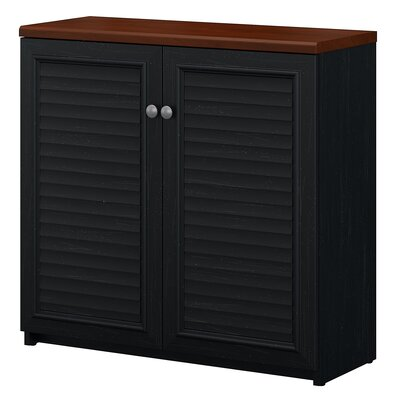 Oakridge Small Storage Cabinet Color: Antique Black