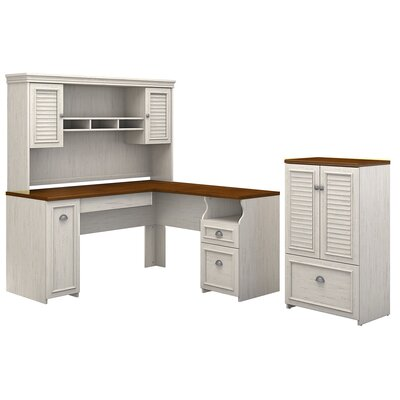 Oakridge 3 Piece L-shaped Desk Office Suite