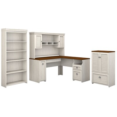 Oakridge 4 Piece L-shaped Desk Office Suite