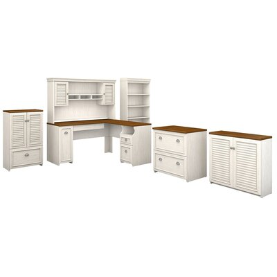 Oakridge 6 Piece L-shaped Desk Office Suite