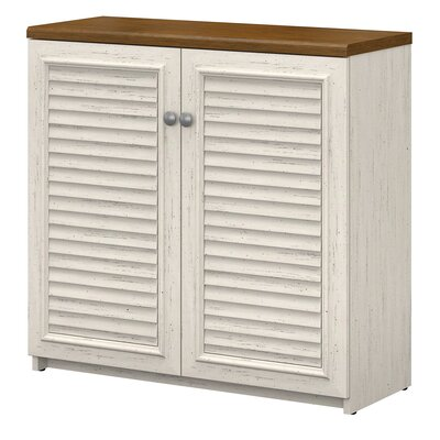 Oakridge Small Storage Cabinet Color: Antique White