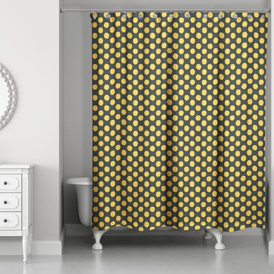 Rainier Dots Shower Curtain Color Yellow Black