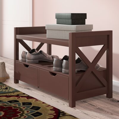 Cyril Wood Storage Bench Color: Cherry