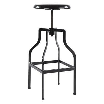 Compton Adjustable Height Swivel Bar Stool Color: Black