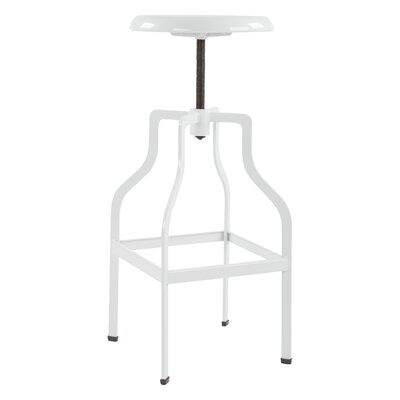 Compton Adjustable Height Swivel Bar Stool Color: White