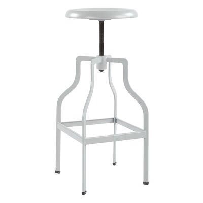 Compton Adjustable Height Swivel Bar Stool Color: Gray