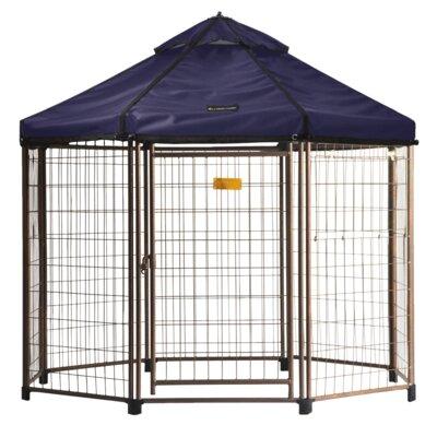 "Indiana Pet Gazebo Canopy Yard Kennel Color: Cobalt Sky, Size: 96"" H x 96"" W x 1"" D"
