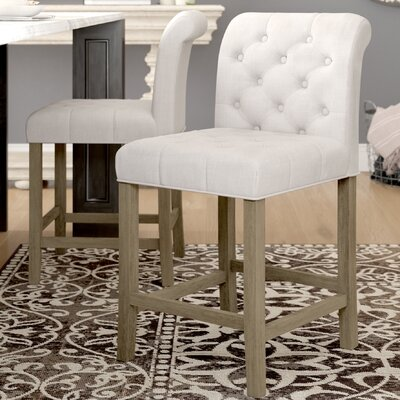 "Geremia 24"" Bar Stool Color: Beige"