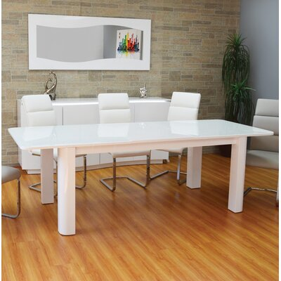 Shayne Extendable Dining Table Color: White