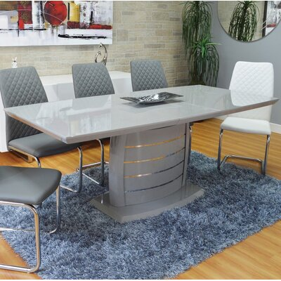 Huston Extendable Dining Table Color: Grey