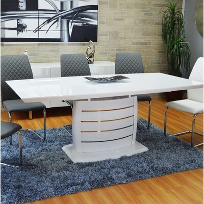 Huston Extendable Dining Table Color: White