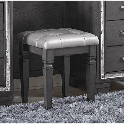 Boden Vanity Stool Color: Silver