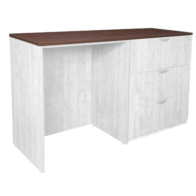 Hassen Stand Up Side Table Top Color: Cherry