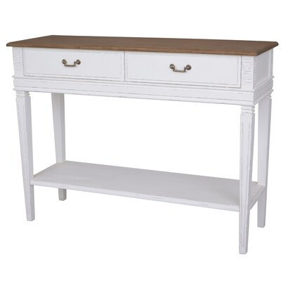 Madison 2 Drawer Console Table Table Top Color: Light Brown