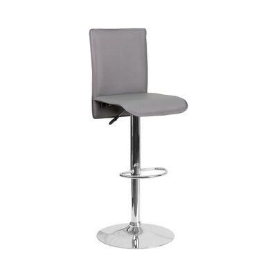 Huck Adjustable Height Swivel Bar Stool Seat Color: Light Gray