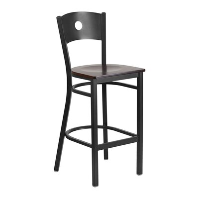 "Sprenger 29"" Bar Stool Seat Color: Black/Red"