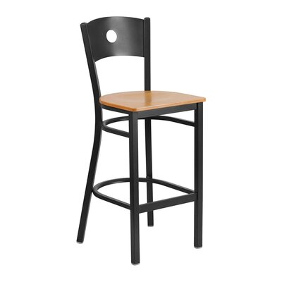 "Sprenger 29"" Bar Stool Seat Color: Black/Yellow"