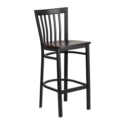 "Staab 29"" Bar Stool Seat Color: Black/Red"