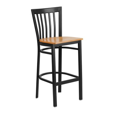 "Staab 29"" Bar Stool Seat Color: Black/Yellow"