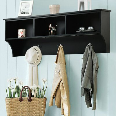 Luz Entryway Wall Mounted Coat Rack Color: Black