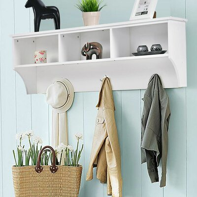 Luz Entryway Wall Mounted Coat Rack Color: White