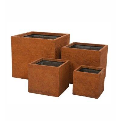 Square 4-Piece Pot Planter Set
