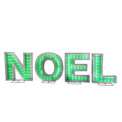Pre-Lit NOEL Lighted Display