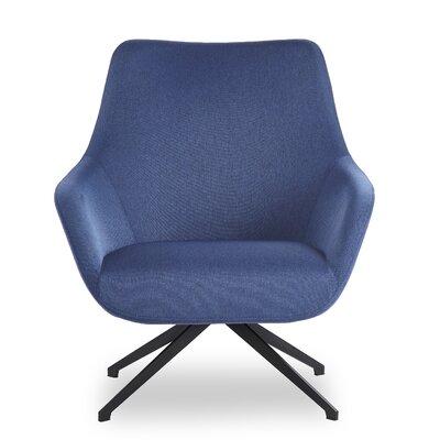 Brady Swivel Lounge Chair Seat Color: Blue