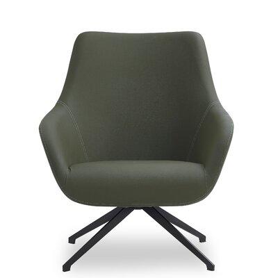 Brady Swivel Lounge Chair Seat Color: Emerald Green