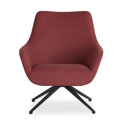 Brady Swivel Lounge Chair Seat Color: Red