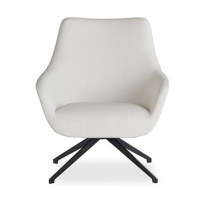 Brady Swivel Lounge Chair Seat Color: White