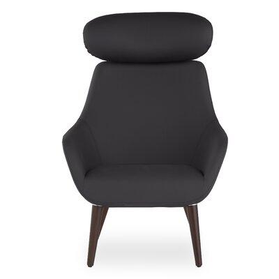 Brady Headrest Lounge Chair Seat Color: Black