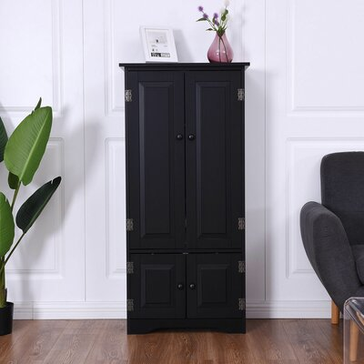 Boutte 4 Door Accent Cabinet Color: Black