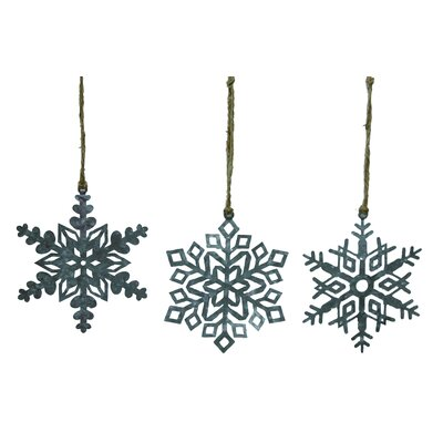 3 Piece Snowflake Shaped Ornament Set