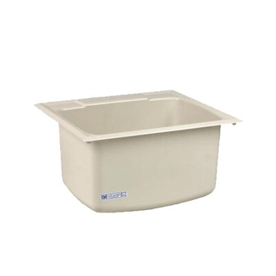 Durastone 25'' x 22'' Drop-in Laundry Utility Sink Sink Finish: Biscuit