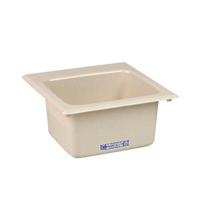 Durastone 15'' x 15'' Drop-in Laundry Utility Sink Sink Finish: Bone