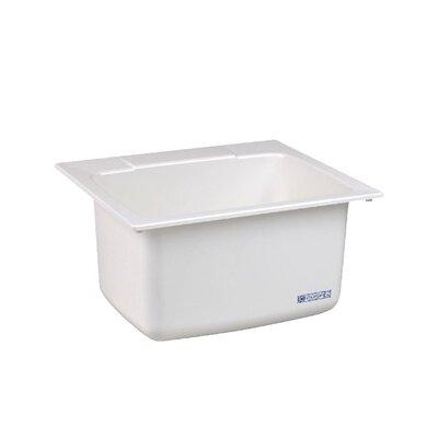 Durastone 25'' x 22'' Drop-in Laundry Utility Sink Sink Finish: White
