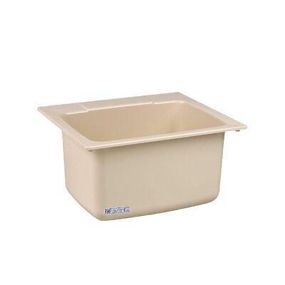 Durastone 25'' x 22'' Drop-in Laundry Utility Sink Sink Finish: Bone