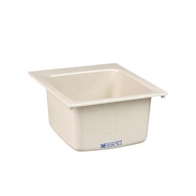 Durastone 20'' x 17'' Drop-in Laundry Utility Sink Sink Finish: Biscuit
