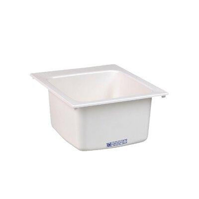 Durastone 20'' x 17'' Drop-in Laundry Utility Sink Sink Finish: White