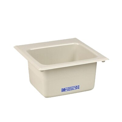 Durastone 15'' x 15'' Drop-in Laundry Utility Sink Sink Finish: Biscuit