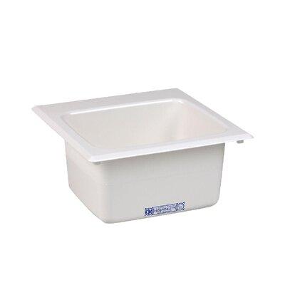 Durastone 15'' x 15'' Drop-in Laundry Utility Sink Sink Finish: White