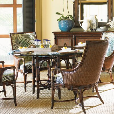 """Coral Sea Rattan Dining Table Size: 30.25"""" H x 54"""" L x 54"""" W"""