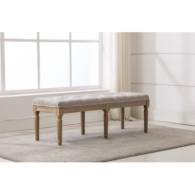 Lurmont Bedroom Upholstered Bench Upholstery: Cream