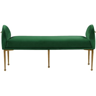 Stovall Upholstered Bench Upholstery: Green